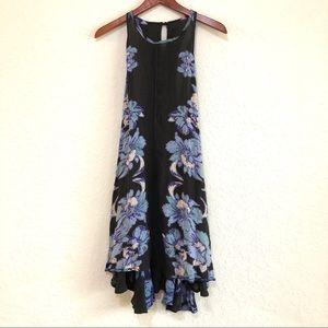 FREE PEOPLE black floral slip sleeveless dress